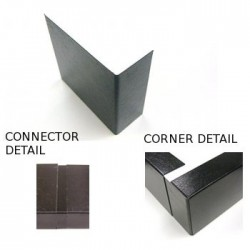 Metal Trim Corner & Connector 100mm