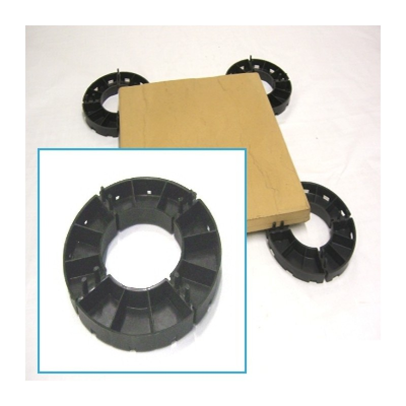 Paving Slab Support For Epdm Rubber Roofs