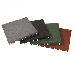 Rubber 30mm x 500mm Square Tiles - Green